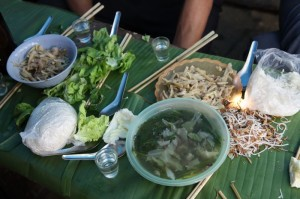 "We reprint a post from, ""Ramblingspoon.com"".  Here's Karen Coates' record of the food that our team's been eating."