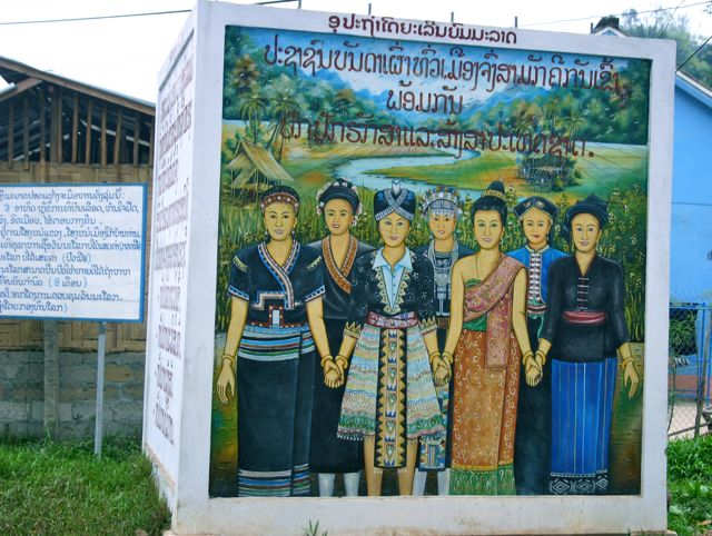 Project Phongsali 2011: At school event we count participants from eighteen different ethnic groups.