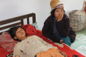 Project Sekong 2012: After a tree fell on the girl, it took more than a day for her family to reach help.