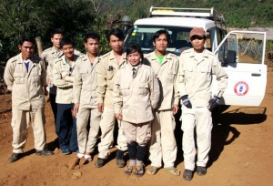 Project Sekong 2012: The Lao government posts a roving team in Sekong Province to destroy newly found UXO.