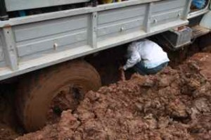 Project Sekong 2014: We end our first day with a truck missing but the next morning find it stuck in the mud!